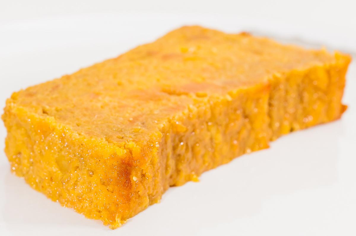 Photo de recette de Budin de boniato, pudding de patate douce uruguayen, facile, léger, bio, végétarien, healthy, légumes, Kilomètre-0, blog de cuisine réalisée à partir de produits de saison et issus de circuits courts