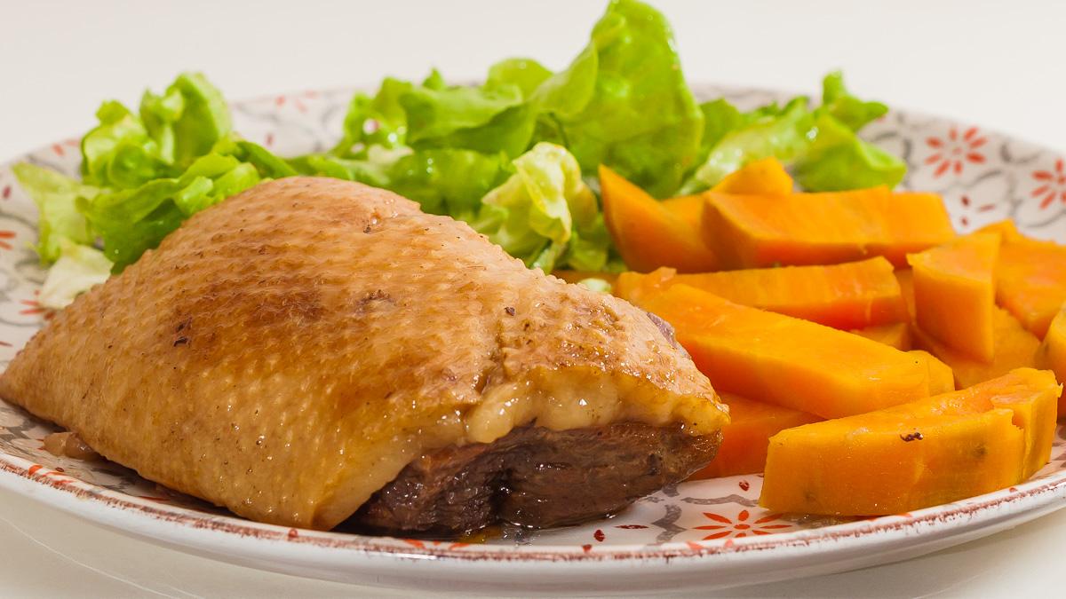 Photo de recette africaine, patate douce, canard, confit, facile, de Kilomètre-0, blog de cuisine réalisée à partir de produits de saison et issus de circuits courts