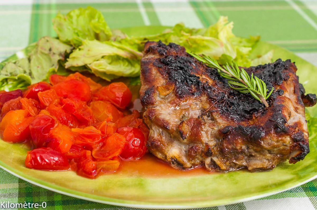 Photo de recette de spare ribs, travers de porc marinés, facile, prunes, fruits, grillades d'été facile, de Kilomètre-0, blog de cuisine réalisée à partir de produits de saison et issus de circuits courts