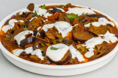 Photo de recette de Bandjan bourani, aubergines façon Afghane, Afghan, aubergines, légumes d'été, facile, bio, healthy, Kilomètre-0, blog de cuisine réalisée à partir de produits de saison et issus de circuits courts