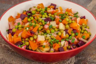 Photo de recette de Macédoine de légumes (Ouzbékistan), légumes, carotte, pomme de terre, végétarien, petits pois, healthy, bio, léger  Kilomètre-0, blog de cuisine réalisée à partir de produits de saison et issus de circuits courts