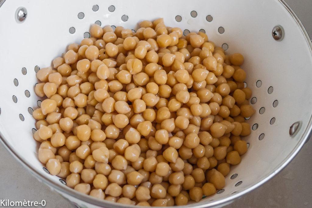 Photo de recette de pois chiches bio de Kilomètre-0, blog de cuisine réalisée à partir de produits de saison et issus de circuits courts