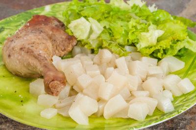 Photo de recette de canard aux navets, légumes, facile, volaille, viande rôtie, healthy, Kilomètre-0, blog de cuisine réalisée à partir de produits de saison et issus de circuits courts