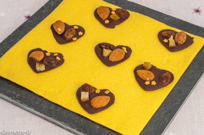 Photo de recette de chocolats maison, mendiants, fruits secs, Noël, chocolat maison facile,facile, rapide, économique, Kilomètre-0, blog de cuisine réalisée à partir de produits de saison et issus de circuits courts
