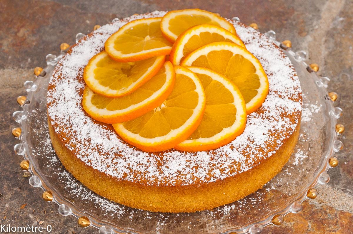 Photo de recette de dessert,  gâteau facile à l'orange, rapide, bio, agrumes, Kilomètre-0, blog de cuisine réalisée à partir de produits de saison et issus de circuits courts