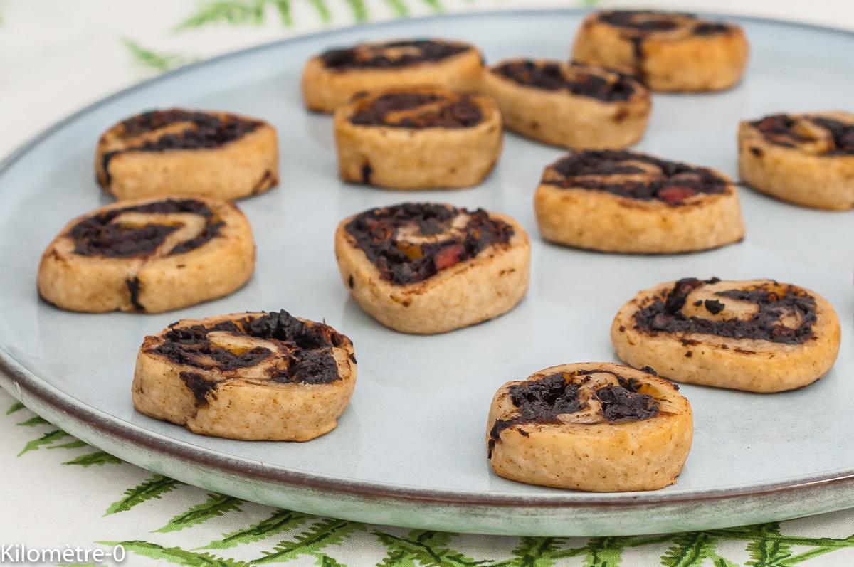 Photo de recette de bouchés apéro, boudin noir, facile, rapide, healthy,  Kilomètre-0, blog de cuisine réalisée à partir de produits de saison et issus de circuits courts