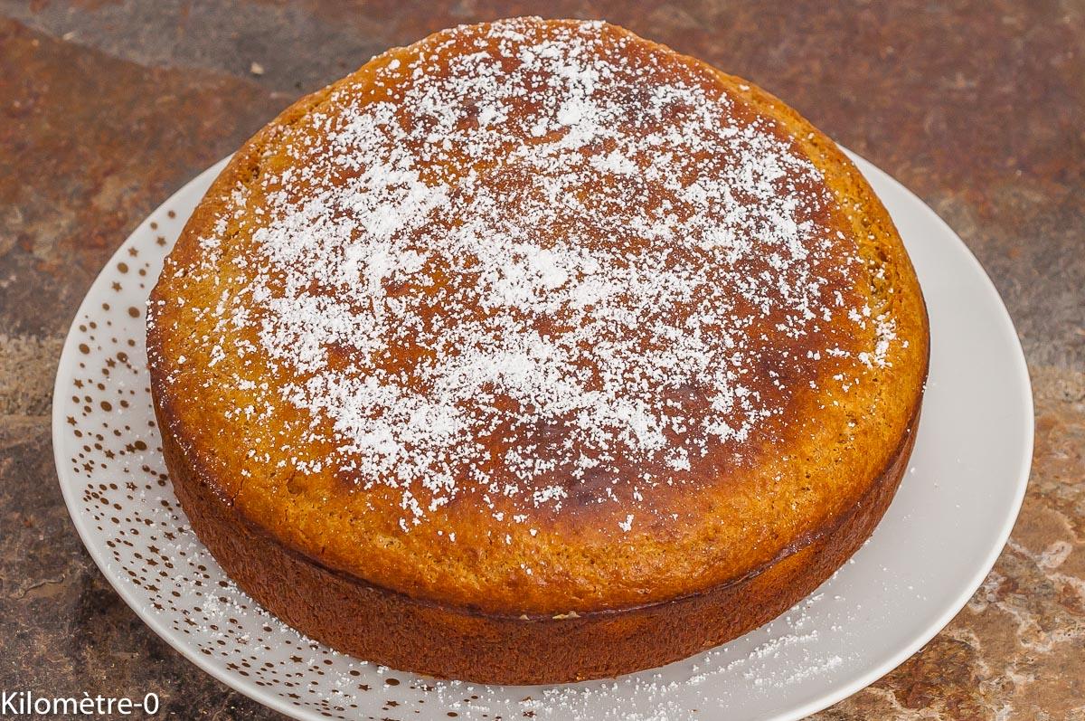 Photo de recette de gâteau au lait concentré, facile, rapide, économique, léger, bio de  Kilomètre-0, blog de cuisine réalisée à partir de produits de saison et issus de circuits courts