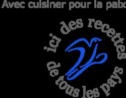 Logo cuisiner pour la paix