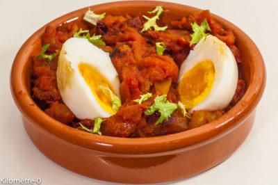 Photo de recette de curry d'oeuf birman, Birmanie, tomates, plat végétarien, healthy, rapide, léger, facile de  Kilomètre-0, blog de cuisine réalisée à partir de produits de saison et issus de circuits courts