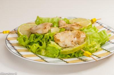 Photo de recette de joues de lotte, facile, poisson, salade, rapide, healthy, léger,  Kilomètre-0, blog de cuisine réalisée à partir de produits de saison et issus de circuits courts