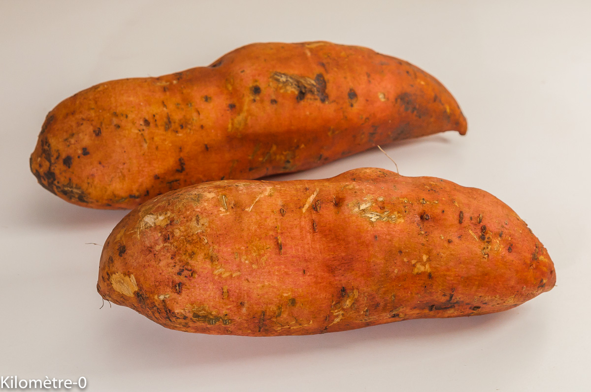 Photo de recette de patates douces, Kilomètre-0, blog de cuisine réalisée à partir de produits de saison et issus de circuits courts