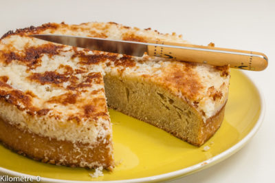 Photo de recette de gâteau, dessert, drommekage, gâteau danois, cuisine danoise,  allégé, bio, noix de coco, Kilomètre-0, blog de cuisine réalisée à partir de produits de saison et issus de circuits courts