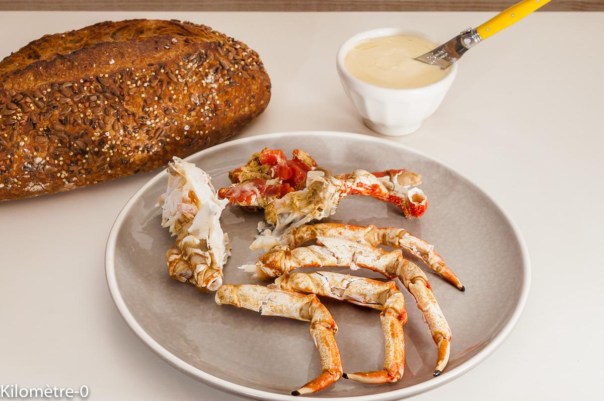 Comment décortiquer une araignée, préaparer une araignée de mer, de Kilomètre-0, blog de cuisine réalisée à partir de produits de saison et issus de circuits courts