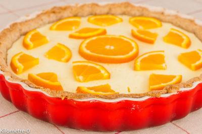 Photo de recette de dessert, tarte, gâteau, amandes, orange, agrumes, fruits, fromage blanc, skyr, Kilomètre-0, blog de cuisine réalisée à partir de produits de saison et issus de circuits courts
