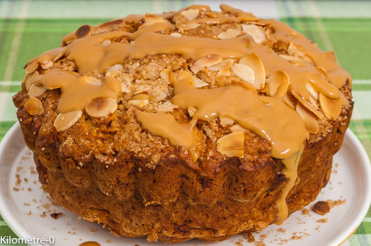 Photo de recette de gâteau, facile, dessert, pommes, caramel, beurre salé, rapide, bio, fruits, de  Kilomètre-0, blog de cuisine réalisée à partir de produits de saison et issus de circuits courts