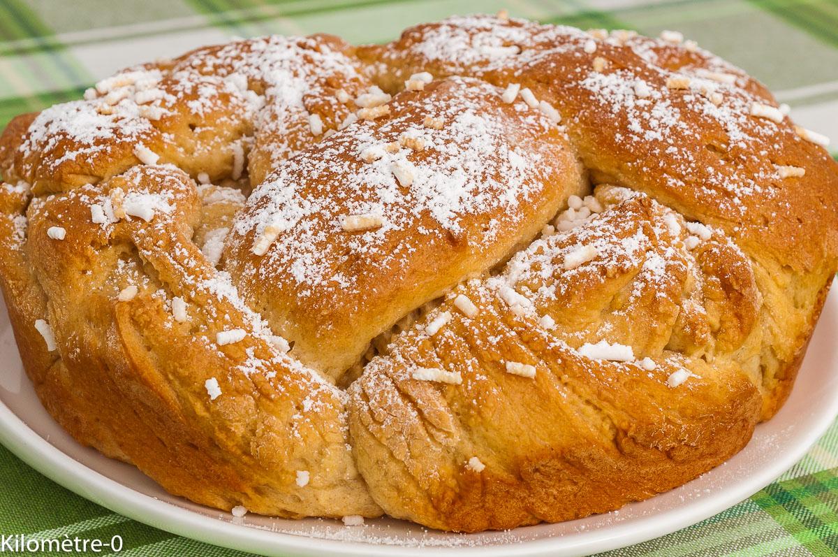 Photo de recette , brioche, Pâques, bulgare, Bulgarie, kozounak de Kilomètre-0, blog de cuisine réalisée à partir de produits de saison et issus de circuits courts