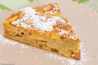 Photo de recette de biscuit moelleux aux pommes, fruits, gâteau, facile, rapide, raisins secs, Kilomètre-0, blog de cuisine réalisée à partir de produits de saison et issus de circuits courts