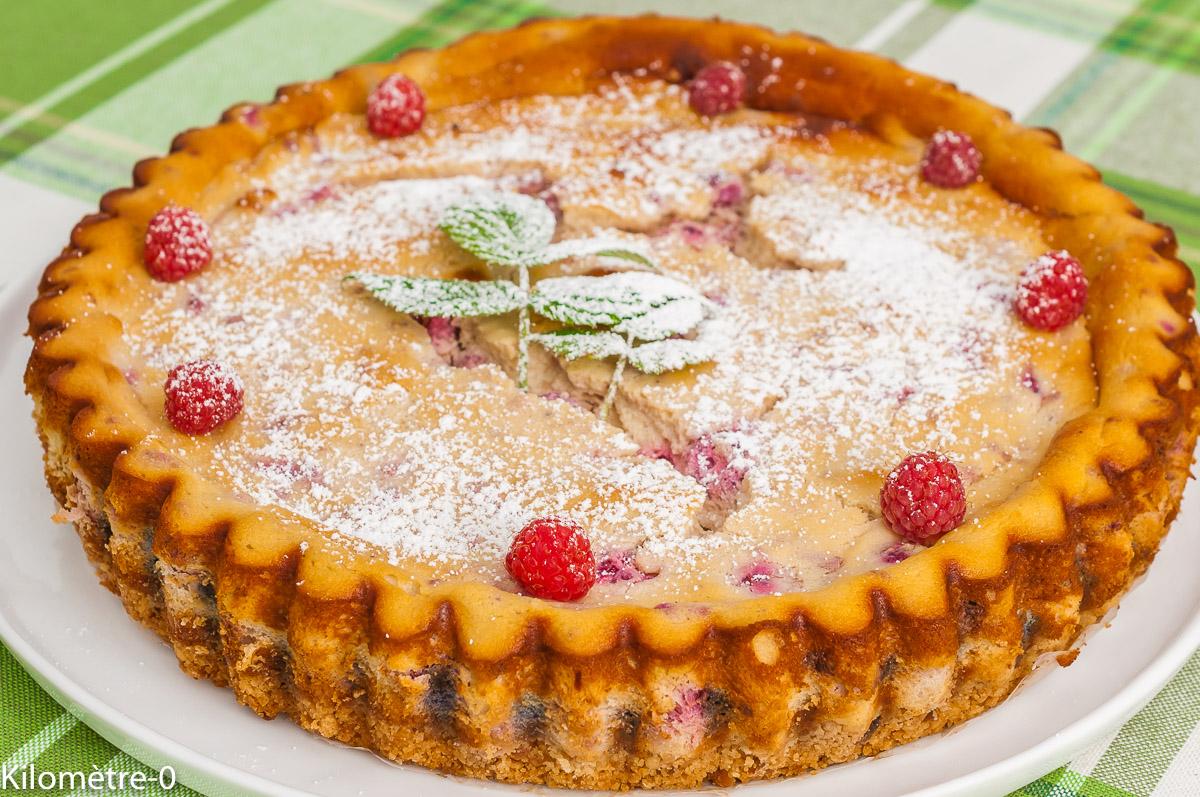 Photo de recette de cheesecake, fruits rouges, ricotta, facile, rapide, léger, framboises, Kilomètre-0, blog de cuisine réalisée à partir de produits de saison et issus de circuits courts