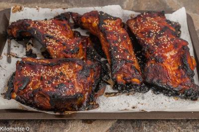 Photo de recette de Travers de porc façon Louisiane aux graines de sésame, marinade, spare ribs, facile, grillade de Kilomètre-0, blog de cuisine réalisée à partir de produits de saison et issus de circuits courts