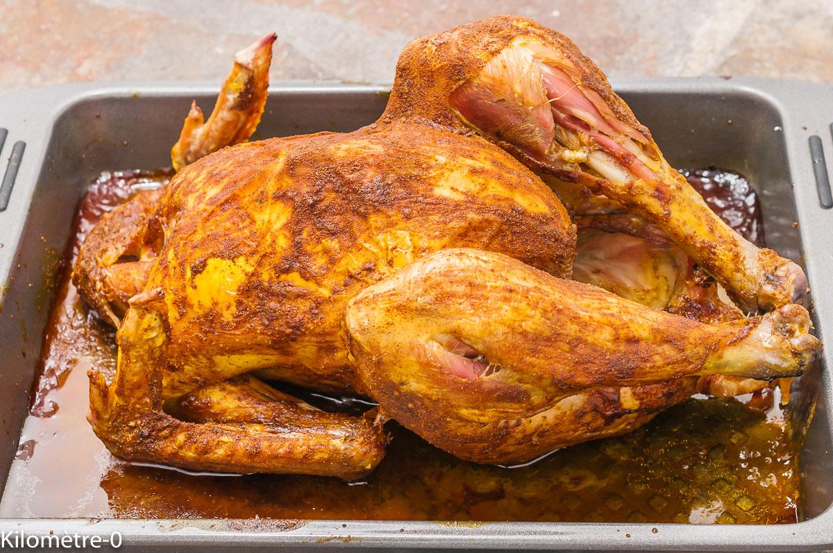 Photo de recette de poulet rôti, épices, facile, cuisson douce, cuisson basse température, Kilomètre-0, blog de cuisine réalisée à partir de produits de saison et issus de circuits courts