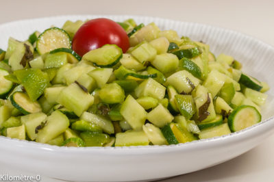 Photo de recette de amade verte, légumes, été, automne, poivrons, courgettes, concombre, facile, healthy, végétarien, léger de Kilomètre-0, blog de cuisine réalisée à partir de produits de saison et issus de circuits courts
