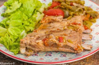 Photo de recette de travers de porc, mijoté, viande, spare ribs, facile, légumes, été, automne, facile, Kilomètre-0, blog de cuisine réalisée à partir de produits de saison et issus de circuits courts