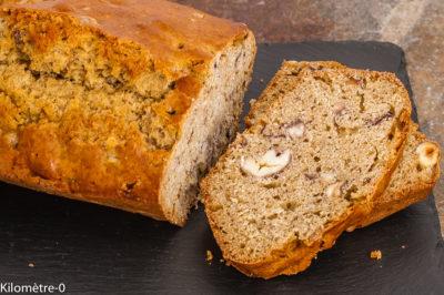 Photo de recette de gâteau du matin, châtaignes, noisettes, facile, rapide, healthy, cake, Kilomètre-0, blog de cuisine réalisée à partir de produits de saison et issus de circuits courts