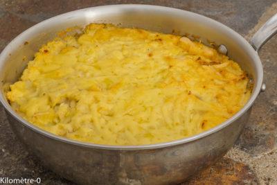 Photo de recette de gratin, confit de canard, céleri, poires,cèpes, Kilomètre-0, healthy, automne, hiver, cuisine, local, légumes,