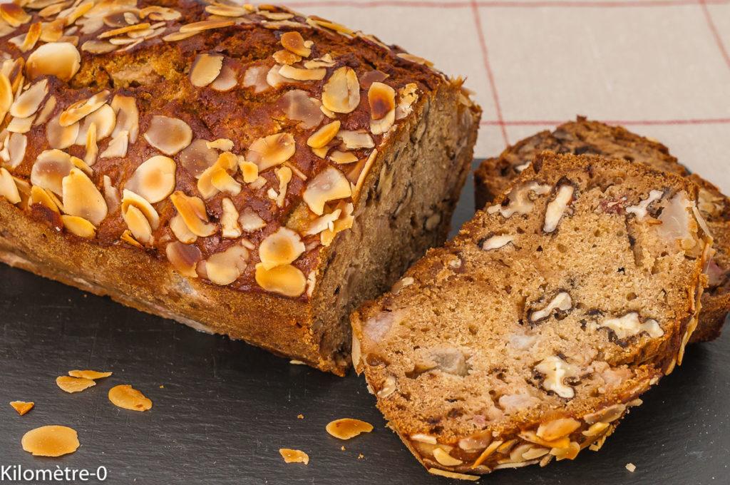Gâteau du matin aux noix et aux poires