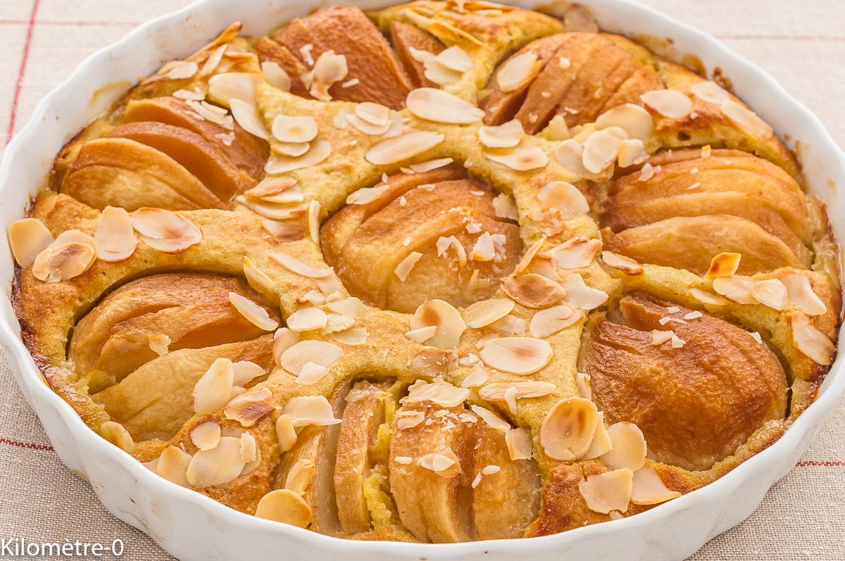 Photo de recette de  dessert, poires, amandes, gâteau, amandine, bio, rapide, Kilomètre-0, blog de cuisine réalisée à partir de produits de saison et issus de circuits courts