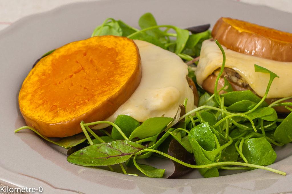 Burger de butternut aux lentilles et pois chiches