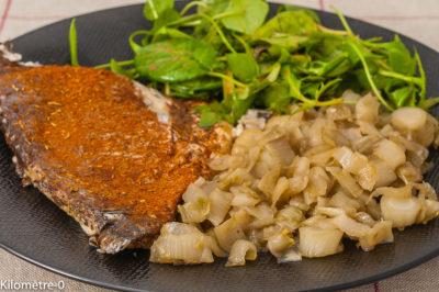 Photo de recette de daurade au four, épices, endives, miel, légumes, poisson, facile, Kilomètre-0, blog de cuisine réalisée à partir de produits de saison et issus de circuits courts