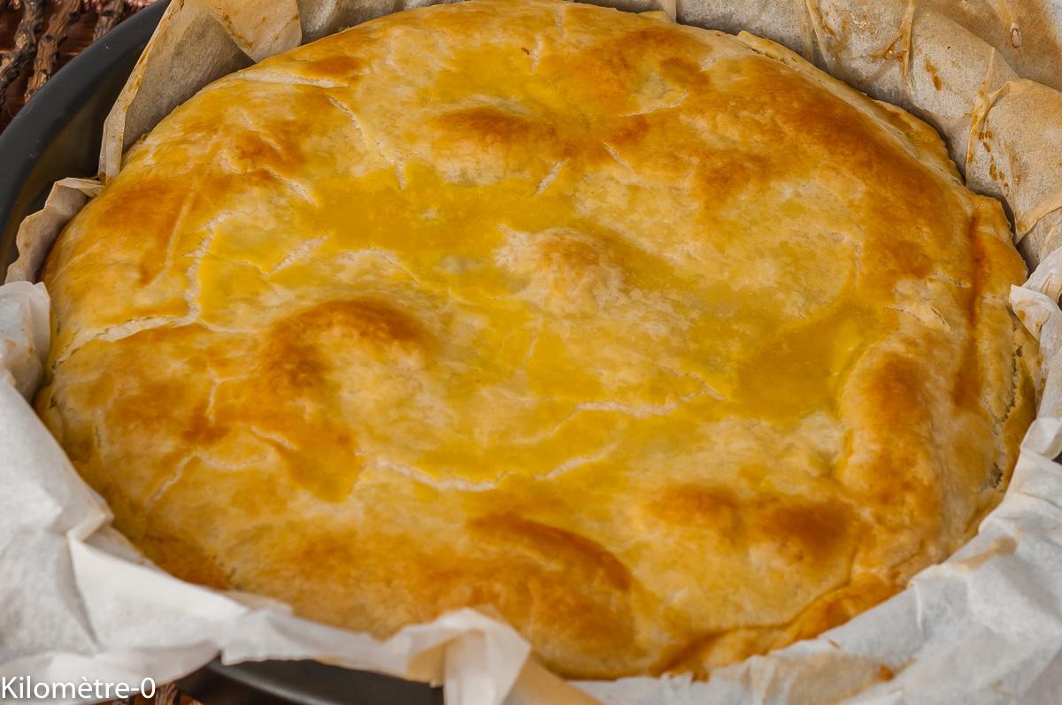 Photo de recette de tourte aux petits pois, ricotta, printemps, facile, rapide,  Kilomètre-0, blog de cuisine réalisée à partir de produits de saison et issus de circuits courts