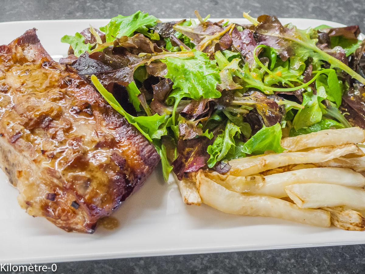 Photo de recette de spare ribs, bière, marinade, travers de porc, ribs, grillade, frites, céleri, Kilomètre-0, blog de cuisine réalisée à partir de produits de saison et issus de circuits courts