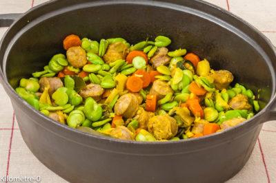 Photo de recette de mijoté, printemps, fèves, carottes, épices, curcuma, facile, rapide, healthy, légumes, Kilomètre-0, blog de cuisine réalisée à partir de produits de saison et issus de circuits courts
