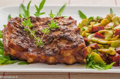Photo de recette de spare ribs, ribs, travers de porc, viande, porc, grillade, marinade, légumes, facile, healthy,  Kilomètre-0, blog de cuisine réalisée à partir de produits de saison et issus de circuits courts