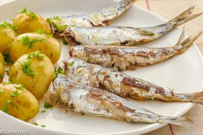 Photo de recette de sardines, beurre, poisson, poisson bleu, petits poissons, pommes de terre nouvelles, Bretagne, cuisine bretonne, facile, rapide, beurre,  Kilomètre-0, blog de cuisine réalisée à partir de produits de saison et issus de circuits courts