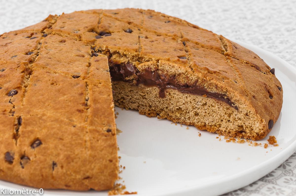 Photo de recette de cookies fourré, chocolat, cookie, bio, facile, cookie géant, Kilomètre-0, blog de cuisine réalisée à partir de produits de saison et issus de circuits courts