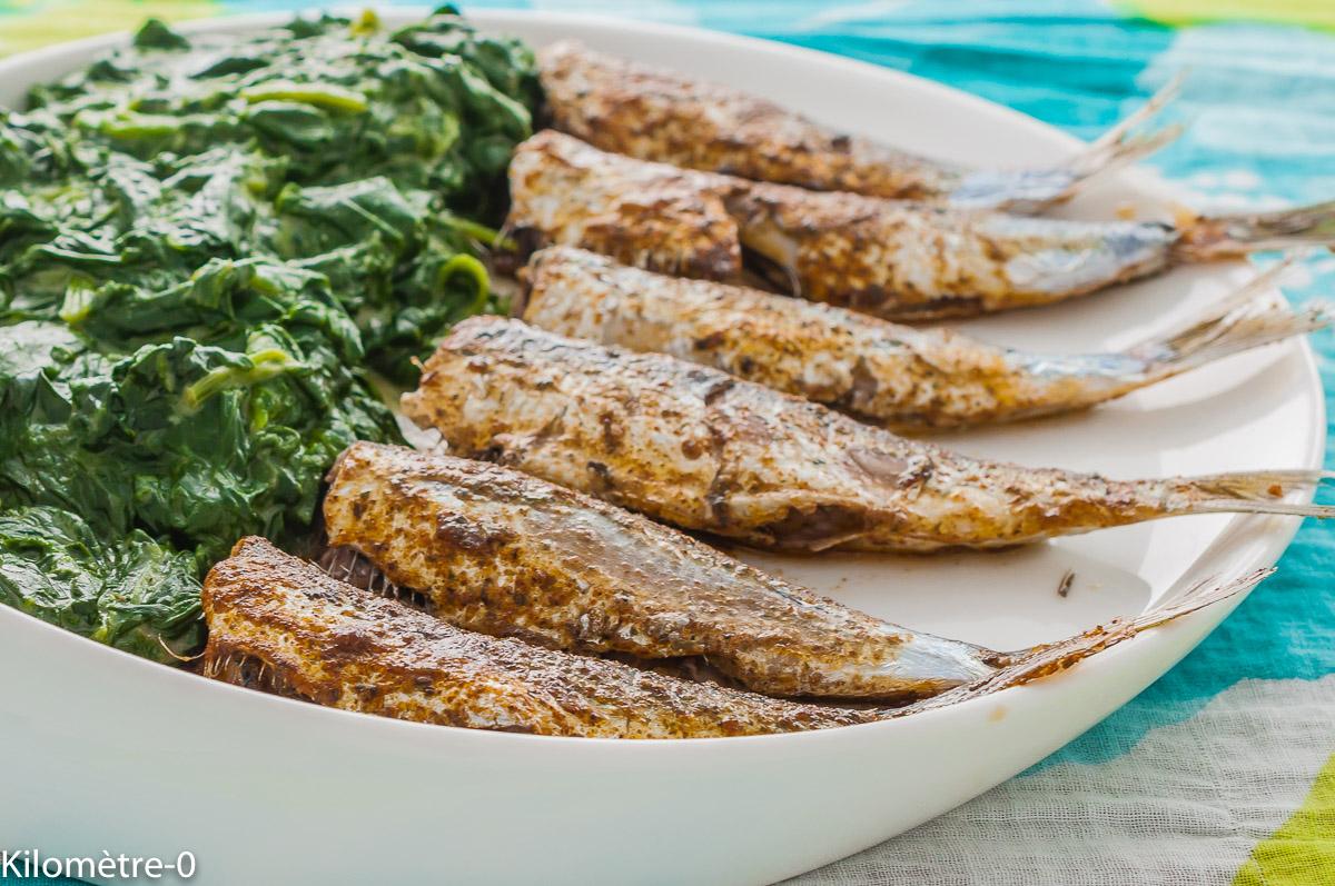 Photo de recette de sardines, grillées, marinées, épices, épinards, sauce béchamel, facile, légumes, printemps, été, facile, bon marché, économique, Kilomètre-0, blog de cuisine réalisée à partir de produits de saison et issus de circuits courts