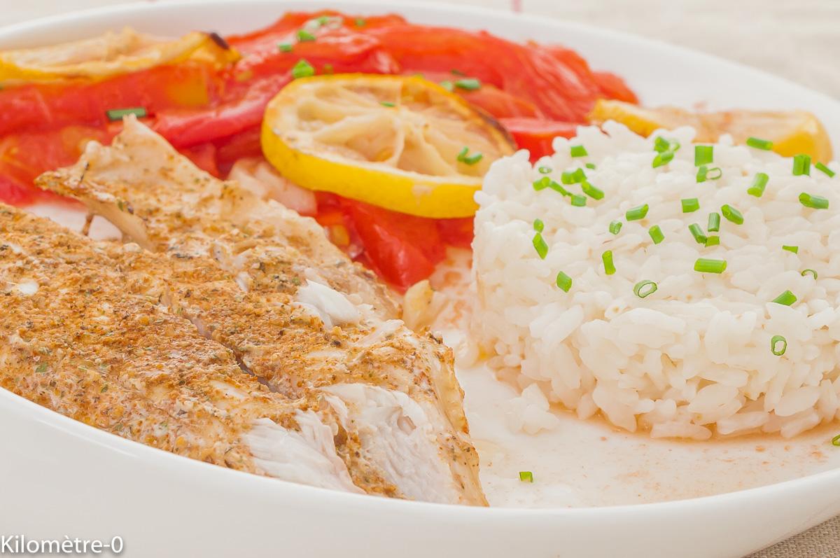 Photo de recette de daurade, dorade, épices, marocaine, tomates, facile, léger, poisson, rapide, de Kilomètre-0, blog de cuisine réalisée à partir de produits de saison et issus de circuits courts