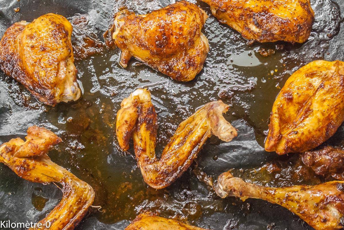 Photo de recette de poulet, marinade, mariné, paprika, facile, grillade, été, viande, volailles,  Kilomètre-0, blog de cuisine réalisée à partir de produits de saison et issus de circuits courts