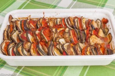 Photo de recette de tian, légumes, été, aubergines, tomates, courgettes, mozzarella, gratin, végé, végétarienne,  Kilomètre-0, blog de cuisine réalisée à partir de produits de saison et issus de circuits courts