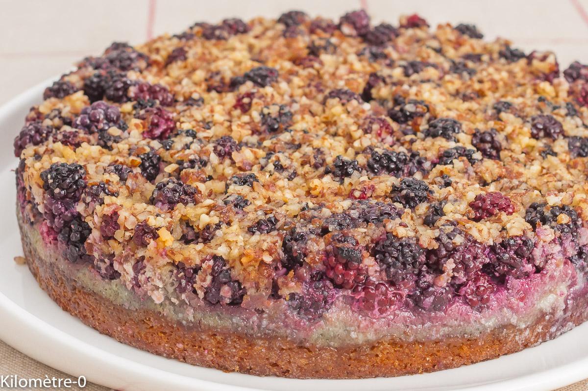 Photo de recette de gâteau, dessert, fruits rouges, mûres, facile, gourmand,  Paul Bocuse Kilomètre-0, blog de cuisine réalisée à partir de produits de saison et issus de circuits courts